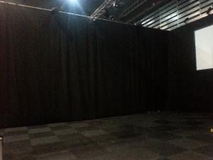 sala de cortinas insonorizantes